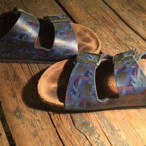 Birkenstock Shoes - Rare Blue Jerry Garcia Birkenstock Sandals, 37